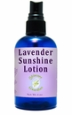 Lavender Sunshine Lotion 4 oz. Explodes with nutrients and vitality. Allow nature to nurture skin care, with new growth in skin tissue and collagen.