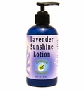 Lavender Sunshine Lotion, 8 oz. with pump. Explodes with nutrients and vitality, infused with Calendula flower oil and red raspberry seed oil. Allow nature to nurture skin care, with new growth in skin tissue and collagen.