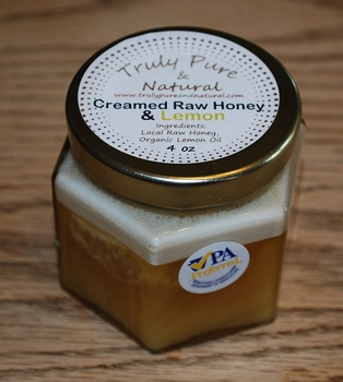 Raw Creamed Honey - Organic Lemon 6 oz