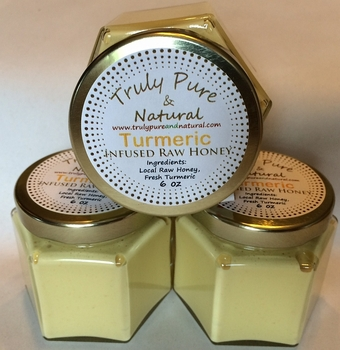 Raw Creamed Honey - Turmeric 6 oz