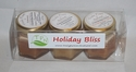 Holiday Bliss Creamed Honey Gift Pack - Cinnamon, Vanilla, Pumpkin Pie Spice