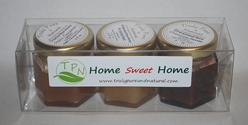 Home Sweet Home Creamed Honey Gift Pack - Cinnamon, Vanilla, Chocolate