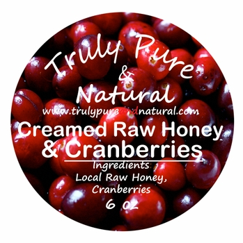 Raw Creamed Honey - Cranberry 6 oz