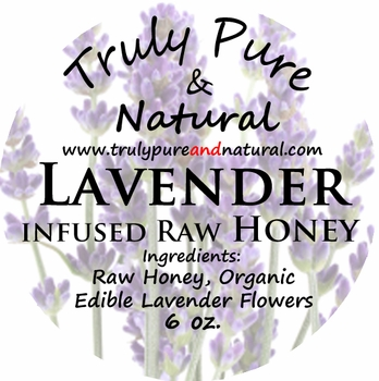 Raw Creamed Honey - Organic Lavender 6 oz