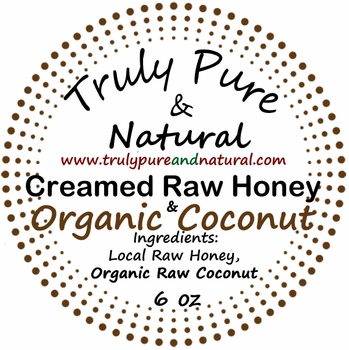 Raw Creamed Honey - Organic Raw Coconut 6 oz