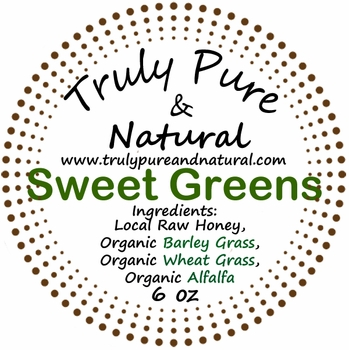 Raw Creamed Honey - Organic Sweet Greens 6 oz
