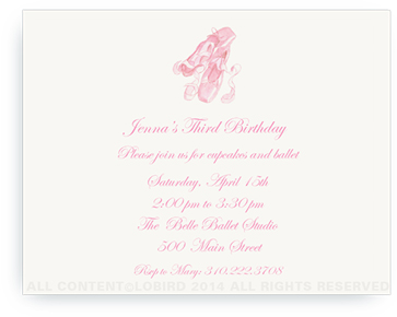 Ballet Slippers - Invitations