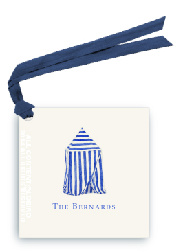 beach cabana gift tag and favor tag