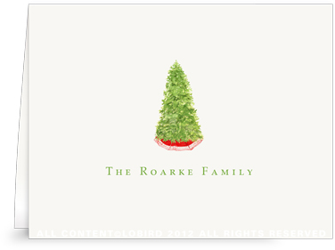 Christmas Tree Folded Note Cards
