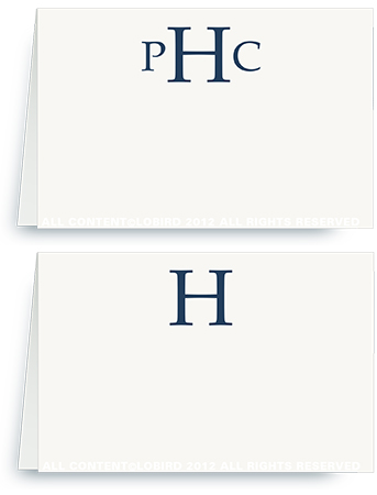 Classic Monogram- Place Cards