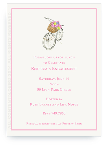 Country Bike - Invitations