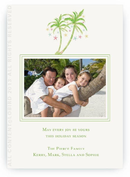 Flat Photo Card- Holiday Palm 2- Landscape Photo
