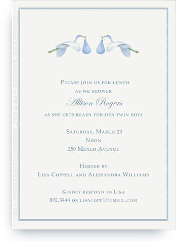 Flying Blue Storks - Invitation