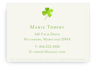 Four Leaf Clover - Calling Card
