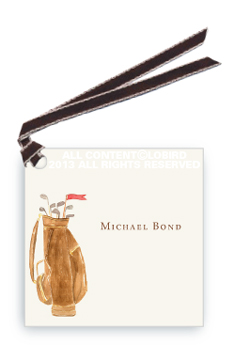 Gift tags- Brown Golf bag