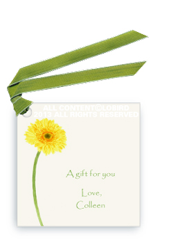 Gift tags- Gerber Daisy - Yellow