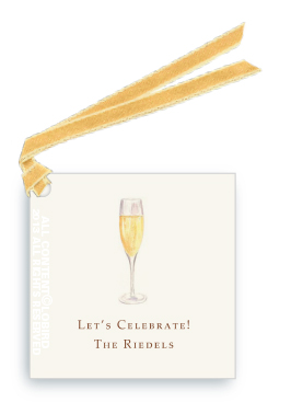 Gift tags- Glass of Champagne