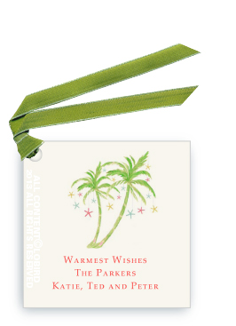 Gift tags - Holiday palm 2