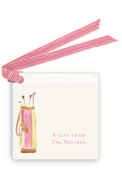 Gift tags- Pink Golf Bag