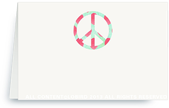 Ikat Peace Sign - Place Cards