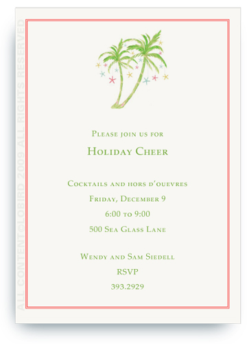 Invitation- Holiday Palm 2