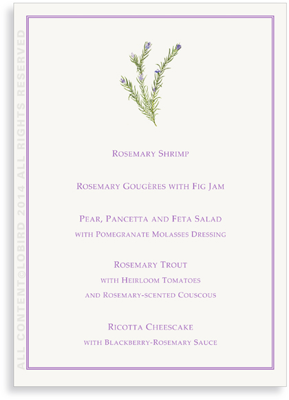 Menu Cards- Rosemary