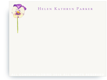 Pansy - Flat Note cards