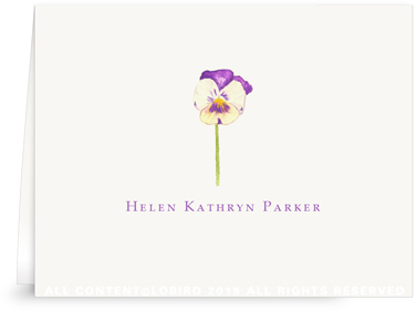 Pansy - Folded Note Card