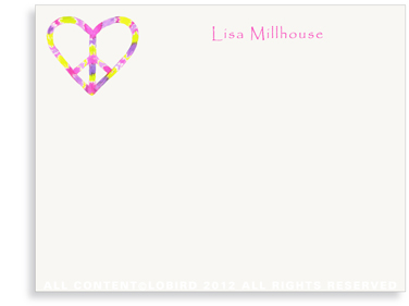 Peace Heart - Flat Note cards
