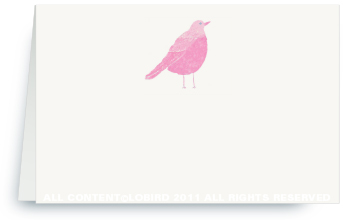 Pink Song Bird -Place Cards