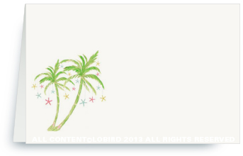Place Cards- Holiday Palm 2