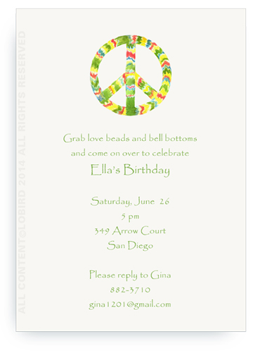 Rasta Peace Sign - Invitations