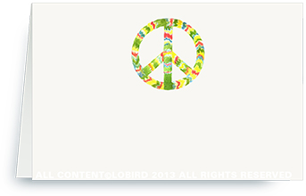rasta peace sign - place cards