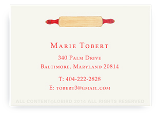 Rolling Pin- Calling Cards