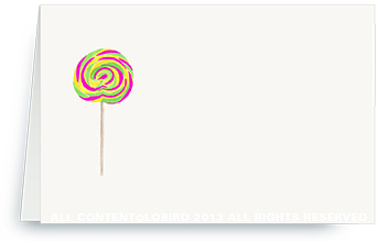 Swirl Lollipop - Ostrich Pink/Green - place cards
