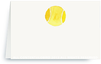 Tennis ball - Place cards