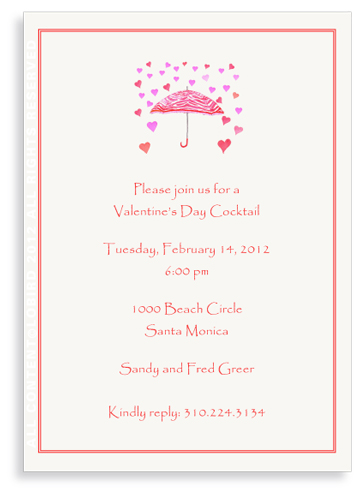 Umbrella - Raining Hearts - Invitations