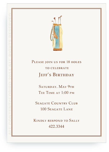 Vintage Nantucket Golf Bag - Invitations