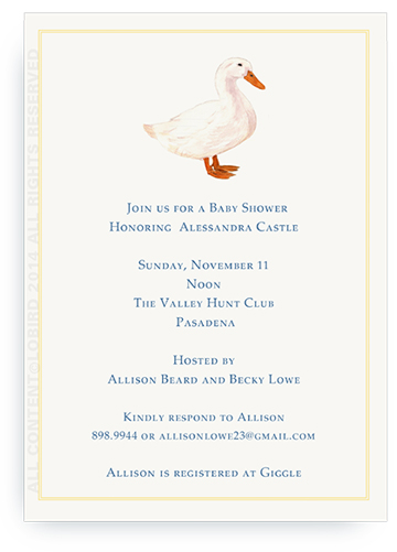 White Duck Invitations