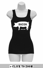 Bacon Pig Womens Tank Top