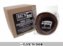 Chocolate Brownie Flavored with Bacon - 3pk
