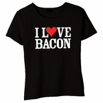 """I Love Bacon"" Babydoll Shirt"