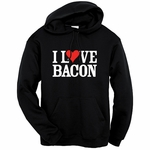 """I Love Bacon"" Hooded Sweatshirt"