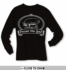 """Praise The Lard"" Long Sleeve Shirt - Black"