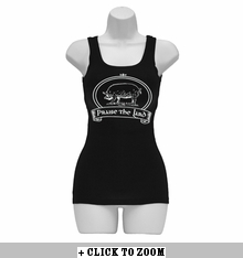 """Praise The Lard"" Womens Tank Top - Black"