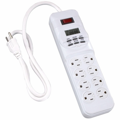 8-Outlet Digital Power Strip Timer
