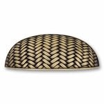 Decorative Weave Antique Brass - Euro Pull - CLEARANCE SALE