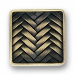 Decorative Weave Antique Brass - Knob - CLEARANCE SALE
