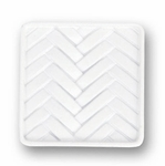Decorative Weave White - Knob - CLEARANCE SALE