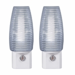 LED Faceted Auto On/Off Night Light, 2-Pack